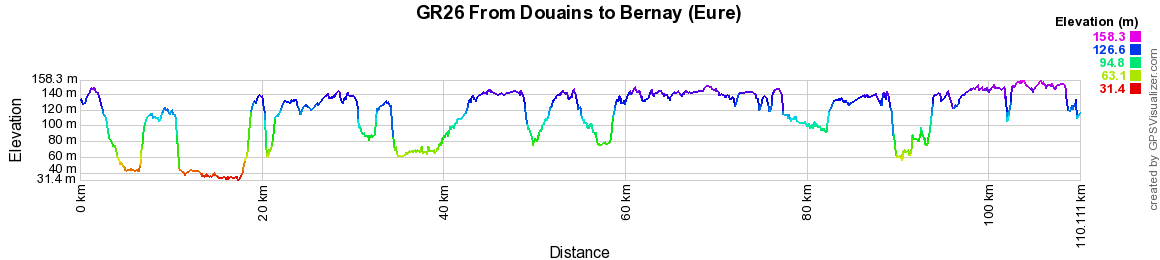 GR26 Walking from Douains to Bernay (Eure) 2