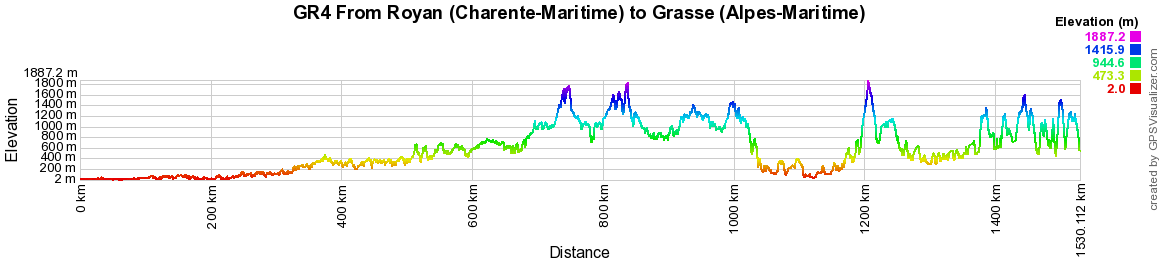 GR4 Hiking from Royan (Charente-Maritime) to Grasse (Alpes-Maritime) 2