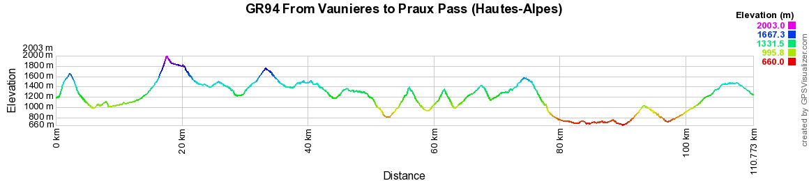 GR94 Hiking from Vaunieres to Praux Pass (Hautes-Alpes) 2