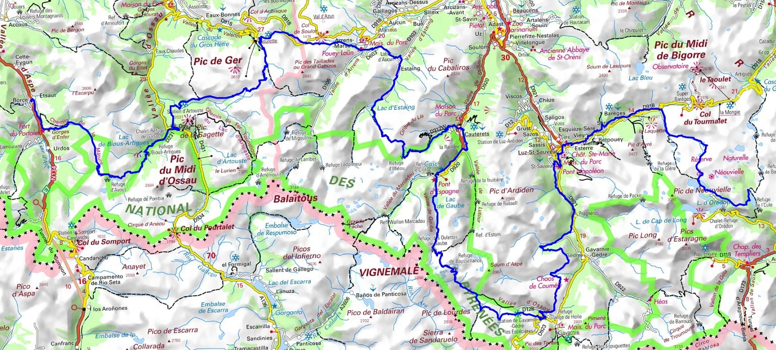 GR10 Hiking from Borce (Pyrenees-Atlantiques) to Oule Lake (Hautes-Pyrenees) 1