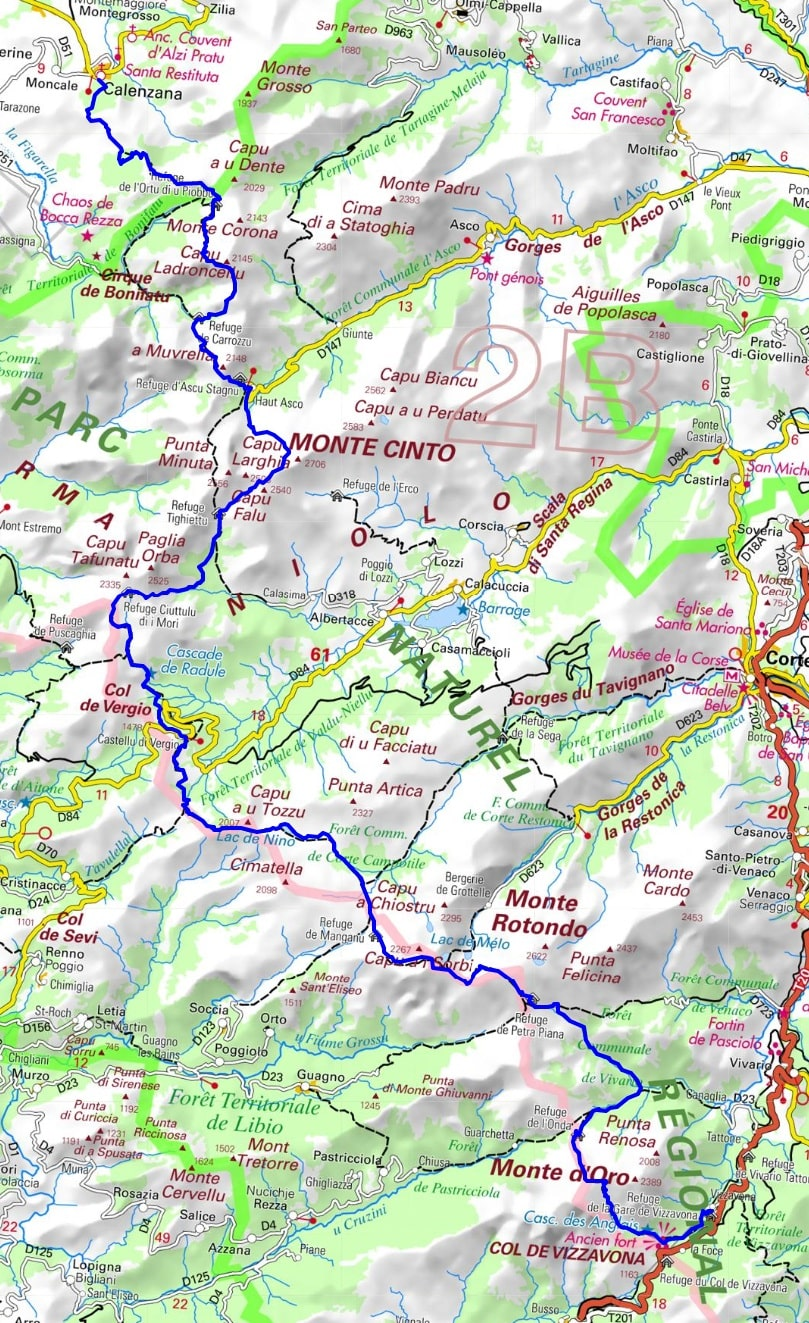 GR20 Hiking from Calenzana to Vizzavona (High-Corsica) 1