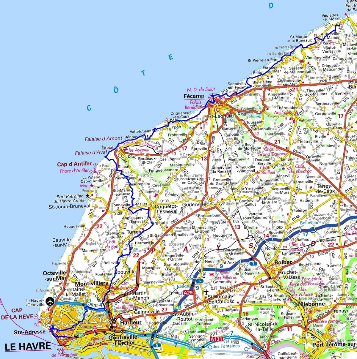 GR21 Hiking from Le Havre to Veulettes-sur-Mer (Seine-Maritime) 1