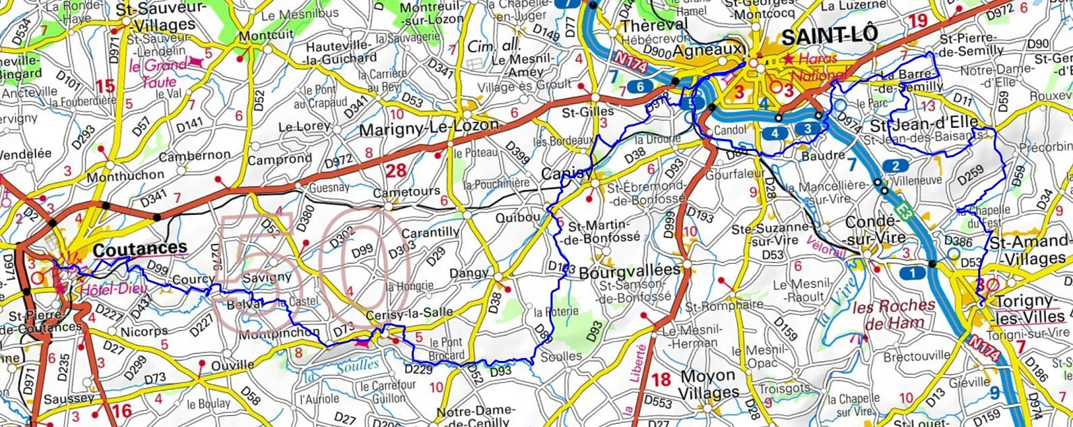 GR221 Hiking from Coutances to Torigny-les-Villes (Manche) 1