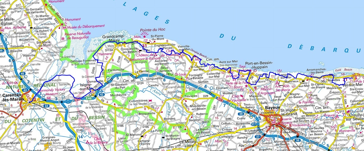 GR223 Hiking from Ver-sur-Mer (Calvados) to Carentan (Manche) 1