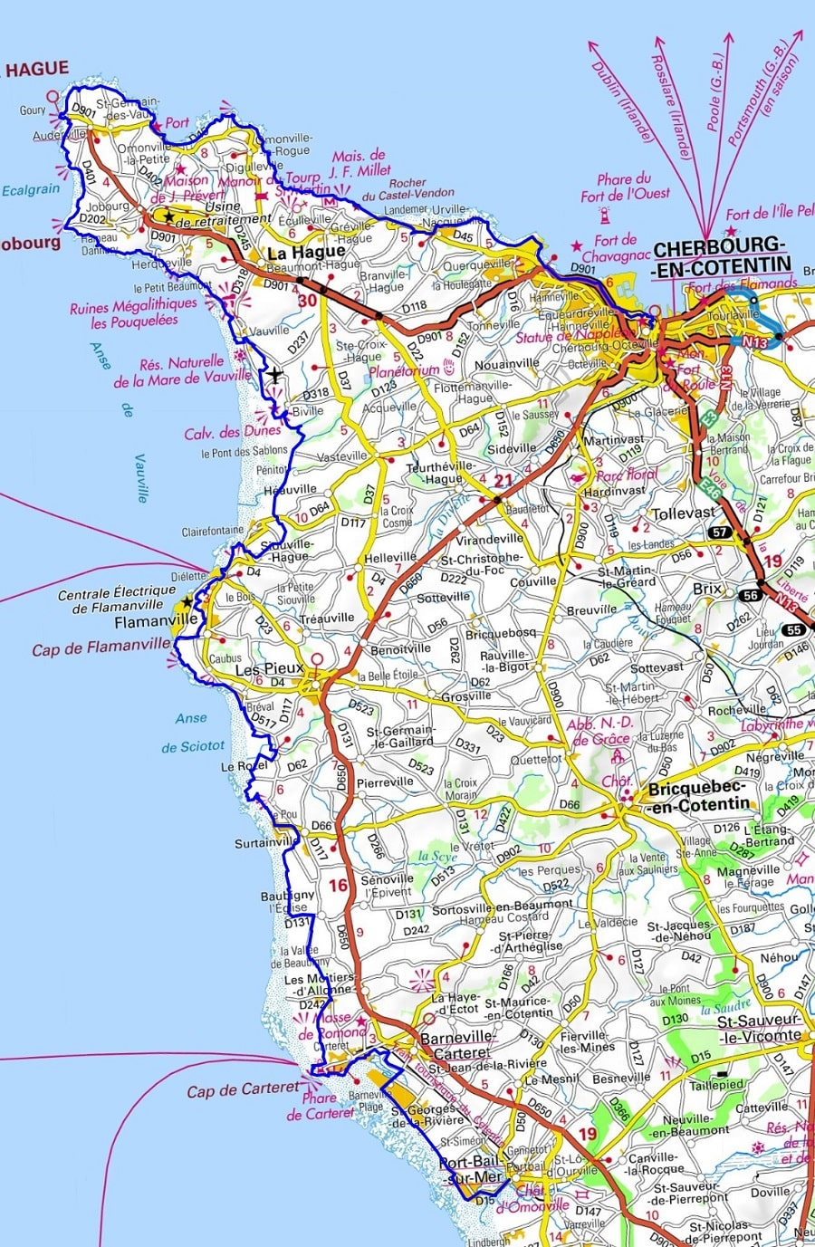 GR223 Hiking from Cherbourg to Portbail (Manche) 1