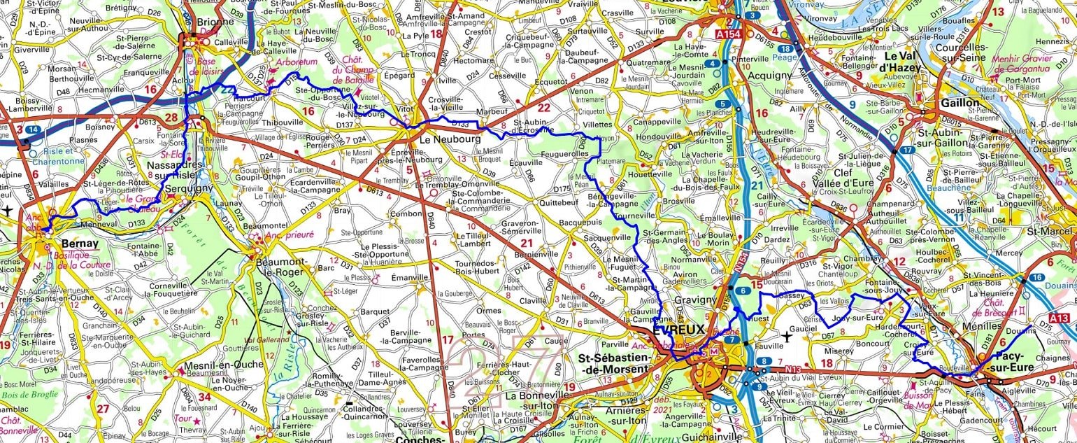 GR26 Walking from Douains to Bernay (Eure) 1