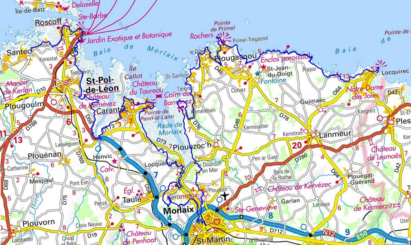 GR34 Walking from Perros-Guirec (Cotes-d'Armor) to Locquirec (Finistere) 1