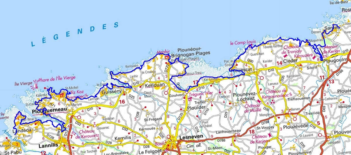 GR34 Walking from Locquirec to Santec (Finistere) 1
