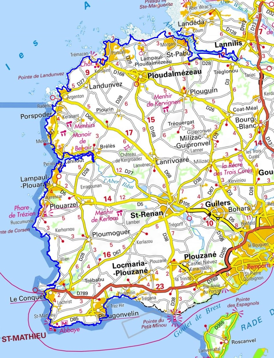 GR34 Walking from Santec to Brouennou (Finistere)