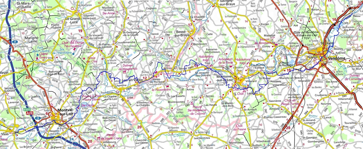 GR35 Walking from Pezou (Loir-et-Cher) to Vaas (Sarthe) 1