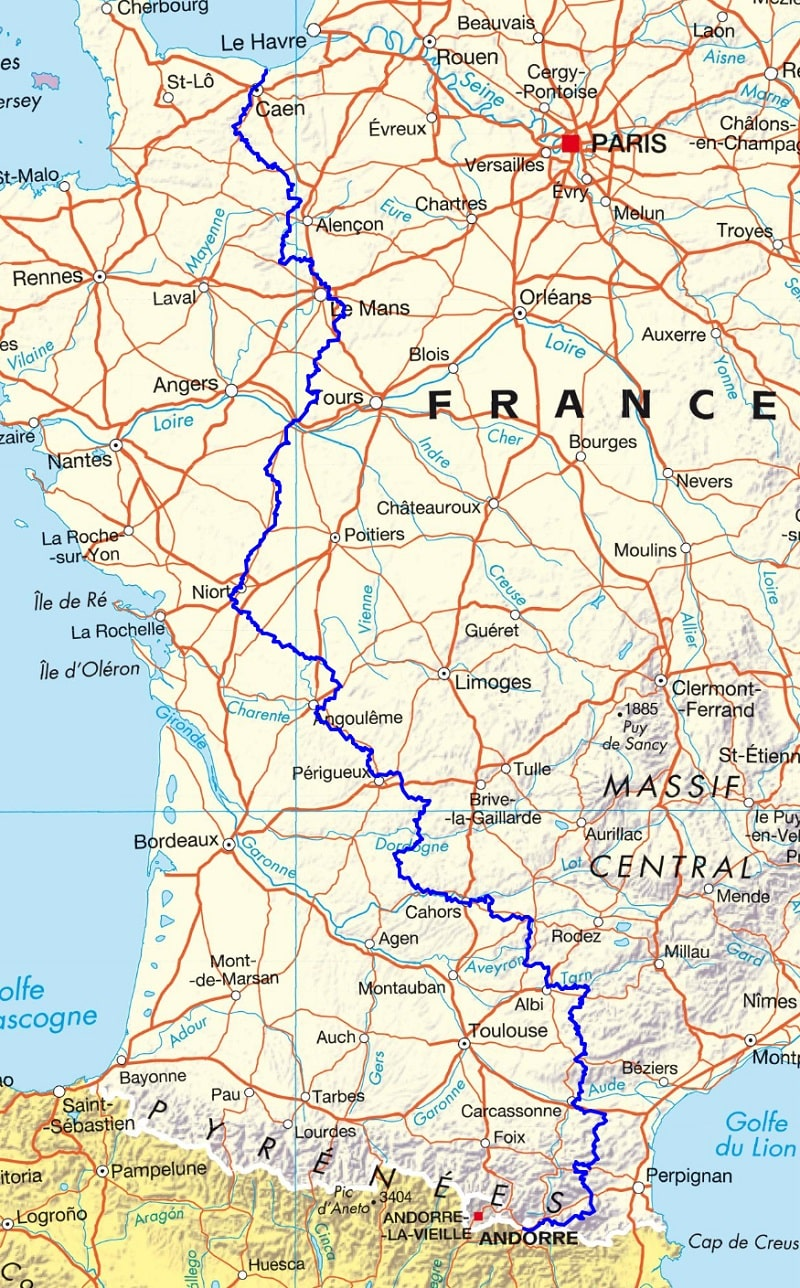 GR36 Hiking from Channel to Pyrenees 1