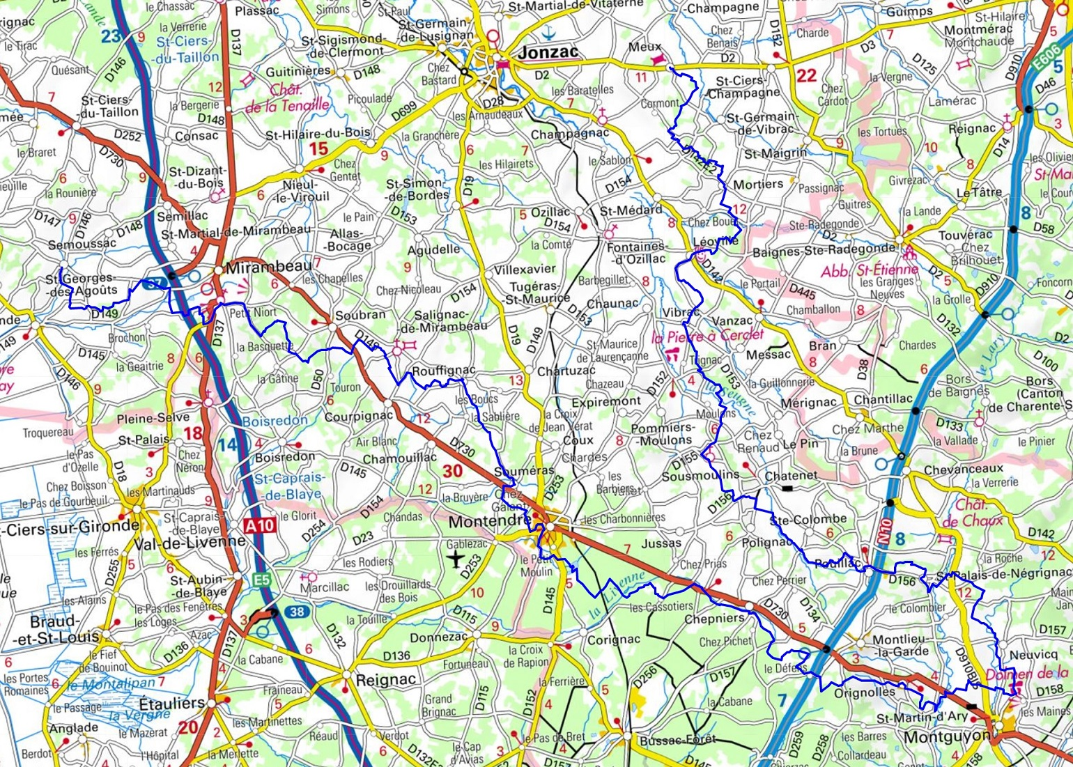 GR360 Hiking from St-Georges-des-Agouts to Meux (Charente-Maritime) 1