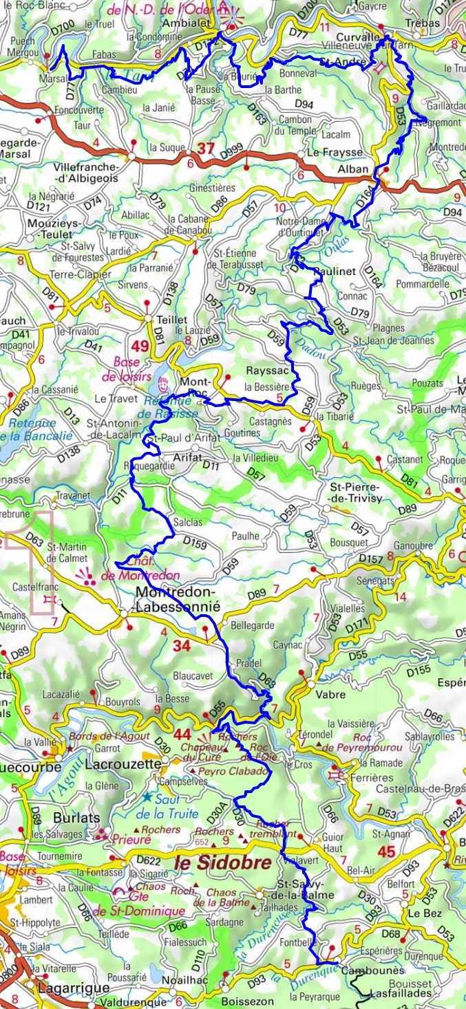 GR36 Hiking from Marsal to Cambounes (Tarn) 1