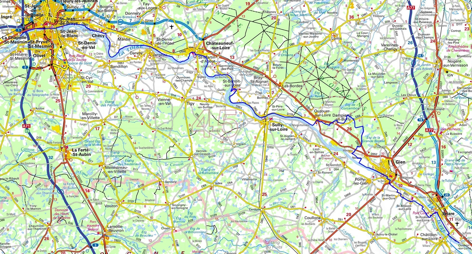 GR3 Hiking from Ousson-sur-Loire to La Chapelle St Mesmin (Loiret) 1