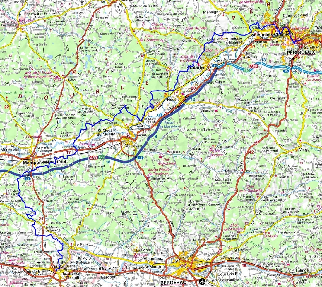 GR646 Walking from Perigueux (Dordogne) to Ste-Foy-la-Grande (Gironde) 1