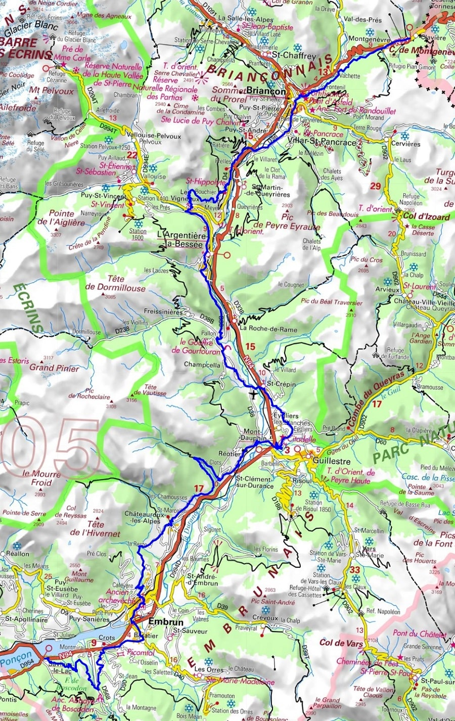 GR653D Hiking from Montgenevre to Savines-le-Lac (Hautes-Alpes) 1