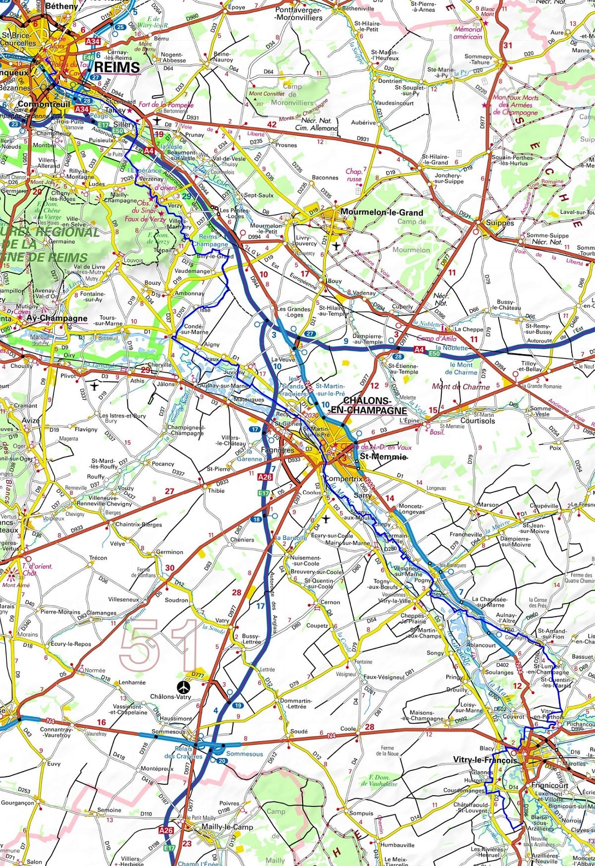GR654 Walking from Reims to Blaise-sous-Arzillieres (Marne) 1