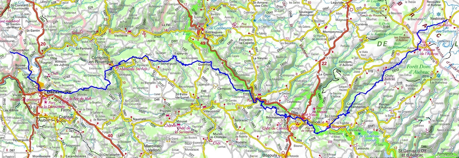 GR65 Hiking from Nasbinals (Lozere) to Montredon (Lot) 1