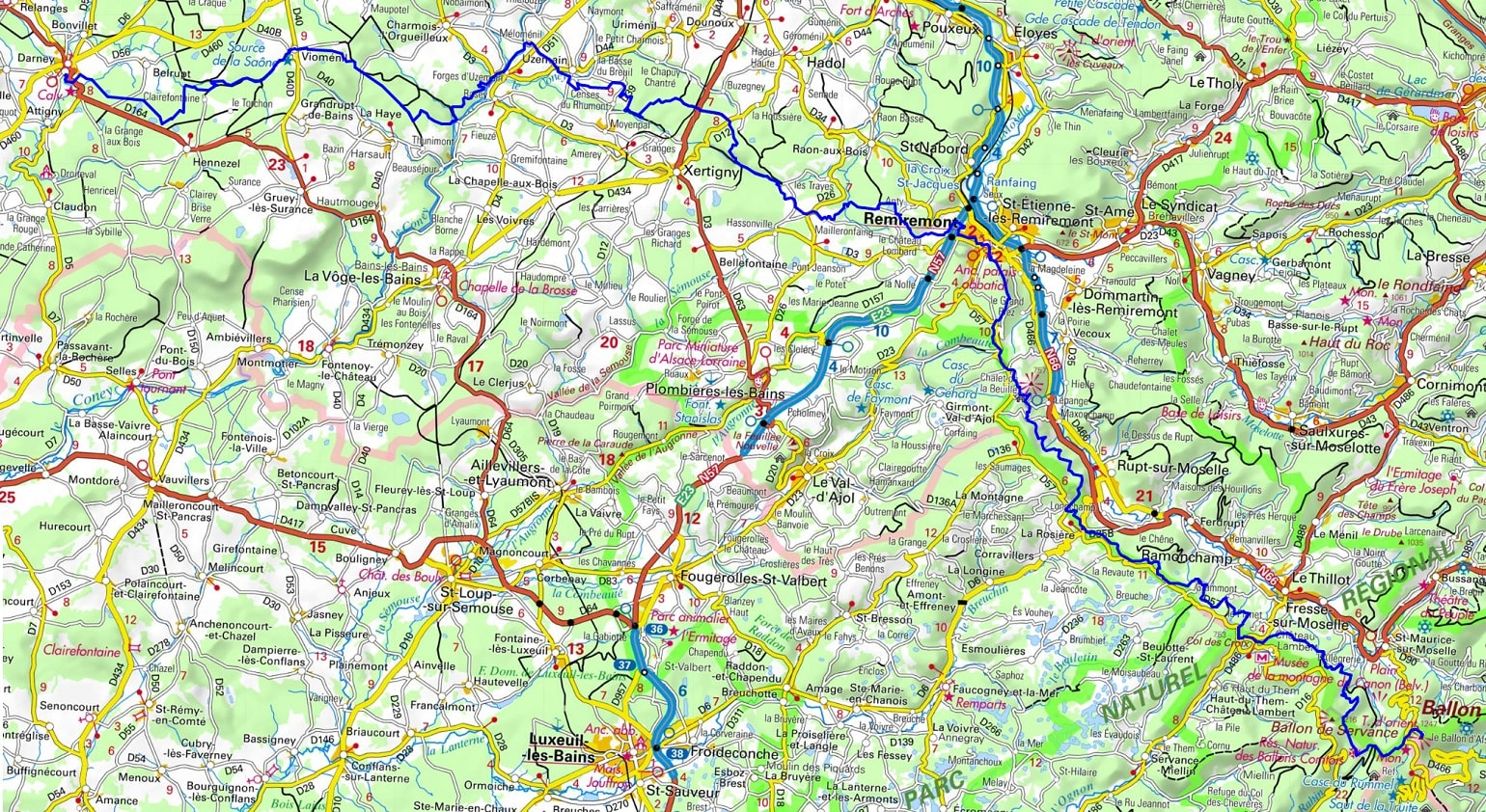 GR7 Hiking from Ballon d'Alsace to Darney (Vosges) 1