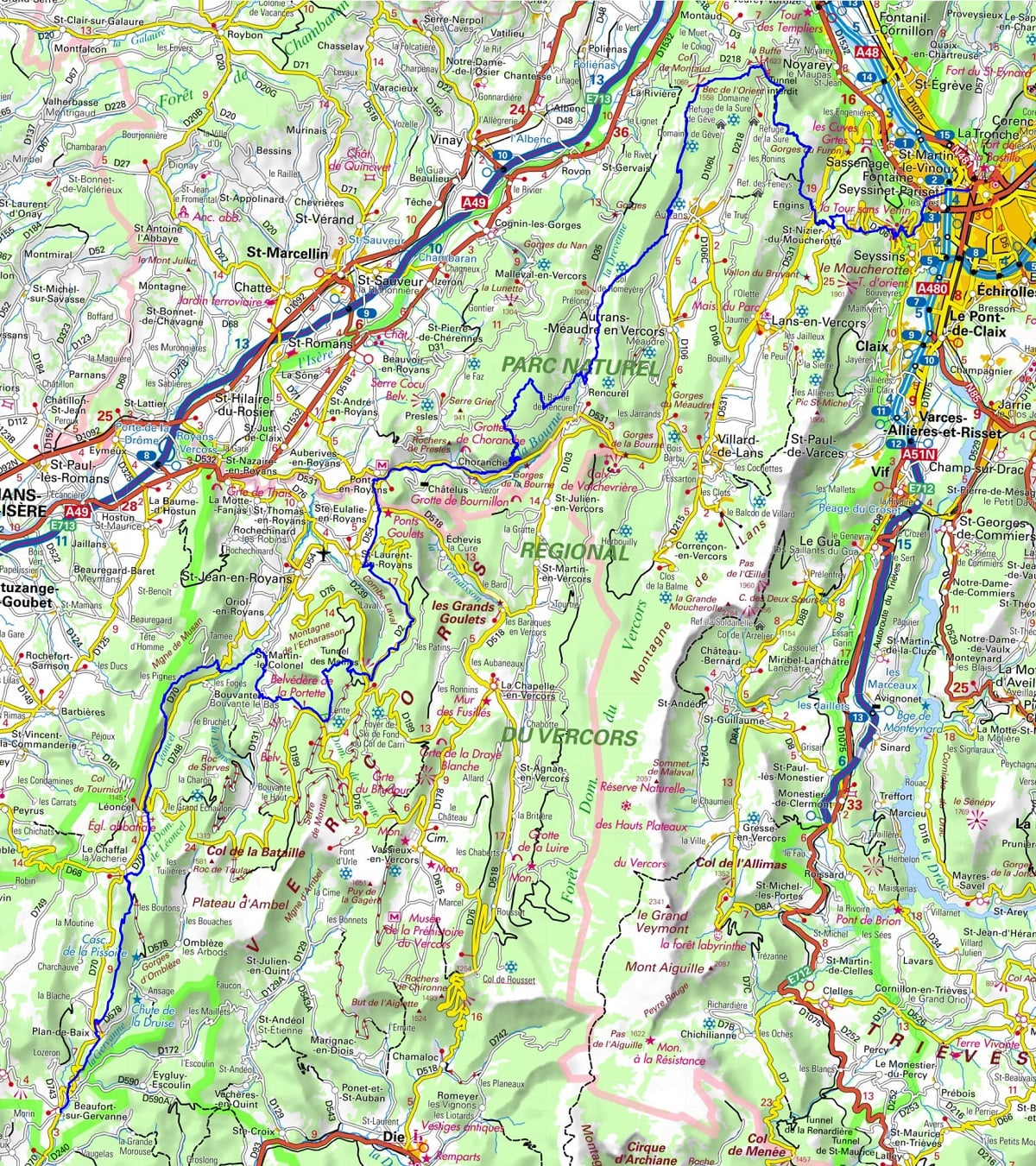 GR9 Hiking from Grenoble (Isere) to Beaufort-sur-Gervanne (Drome) 1