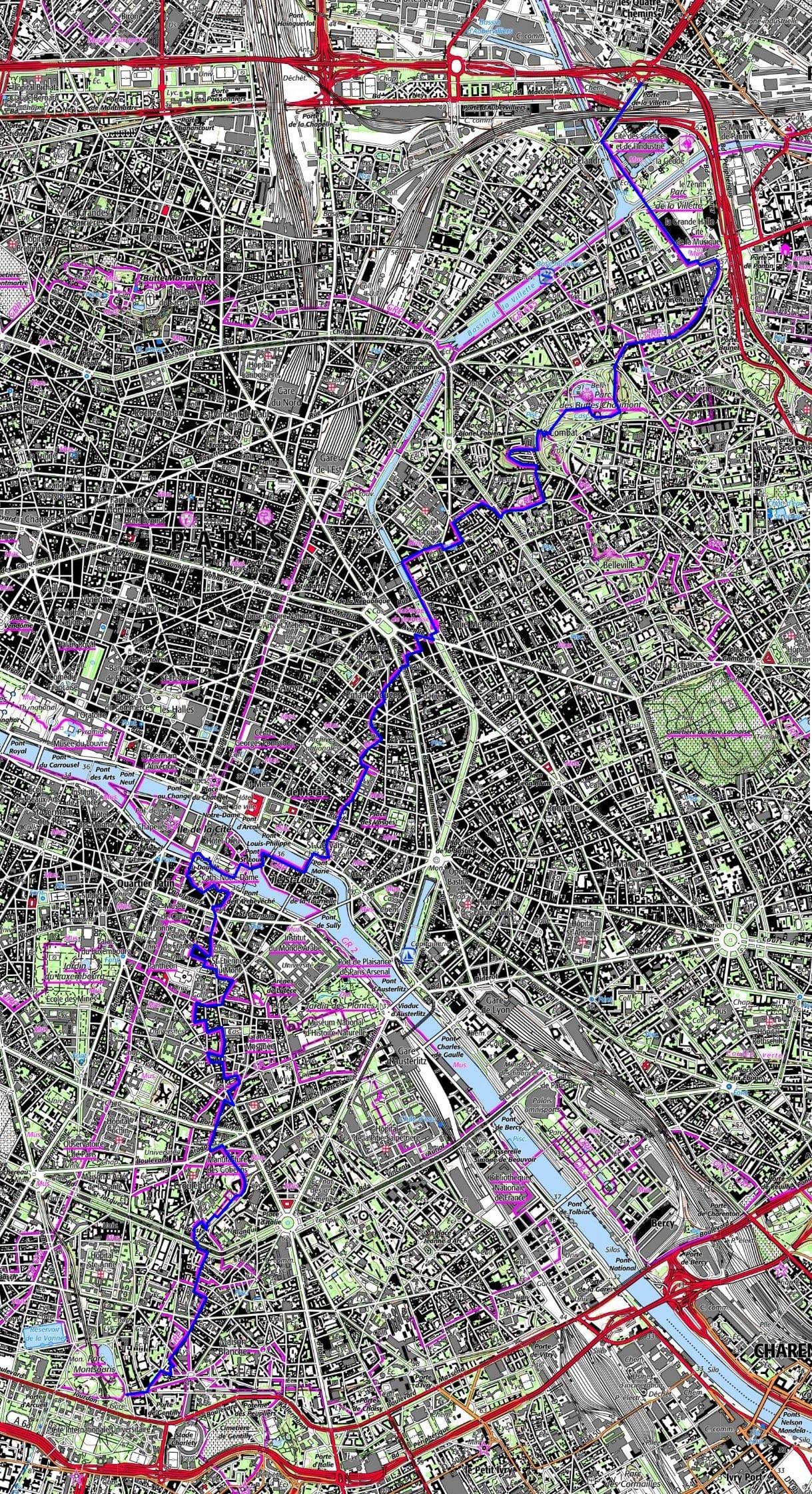 Hiking Across Paris From Porte De La Villette To Porte D