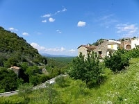 GR44B Hiking from Les Vans (Ardeche) to Mialet (Gard)